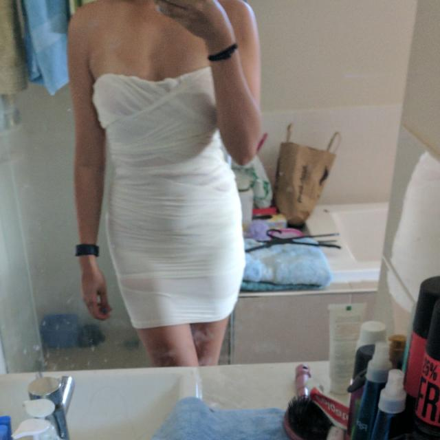 Valley Girl - Xs - Strapless White Bandage Dress