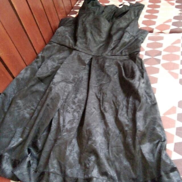Vintage Black Sleeveless Dress