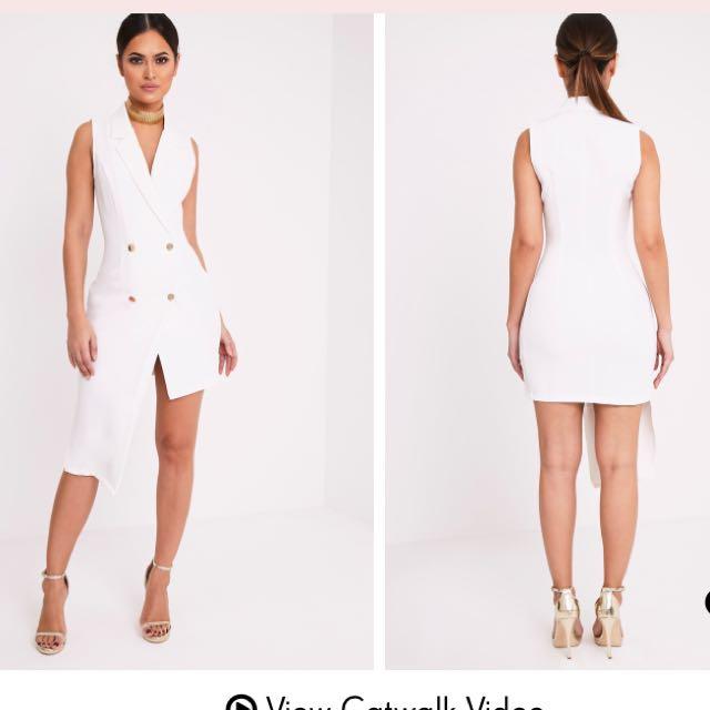 White Blazer Dress Tuxedo Dress
