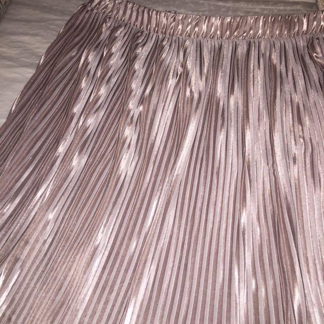 Zara Pleated Pink Skirt