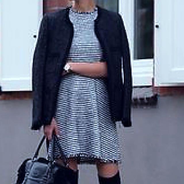 Zara Sleeveless Tweed Dress
