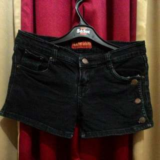 Black Hot Pants Jeans