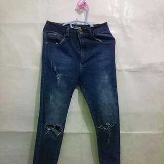 Ripped jeans [high Waist]