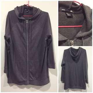 英國購回 H&M 棉質 長版薄外套 近全新 未下水