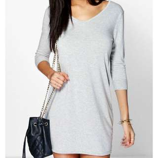 Boohoo.com Grey Dress