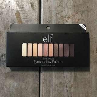 E.L.F. Eyeshadow Palette need in nude眼影盤 珠光霧面眼影