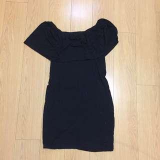 Forever 21 Off The Shoulders Black Dress