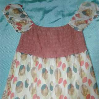 Mossimo Flowy Summer Dress XL - Orange and Soft Yellow