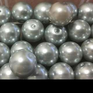 Silver Pearl Beads