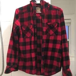 TNA Boyfriend Plaid Shirt- Small