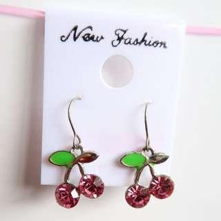 2 for $5 🏵️Pink cherry earrings