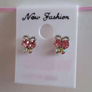 2 for $5 🏵️Pink ribbon studs earrings