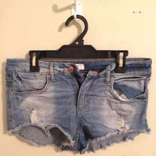 Canadian denim shorts