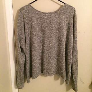 grey salt and pepper long sleeve