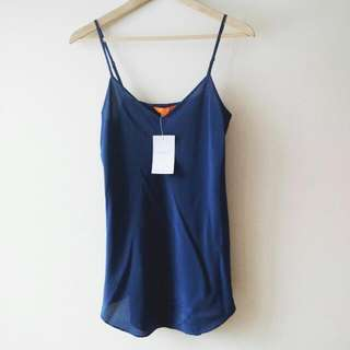 Blue Silk Joe Fresh Camisole NWT Small