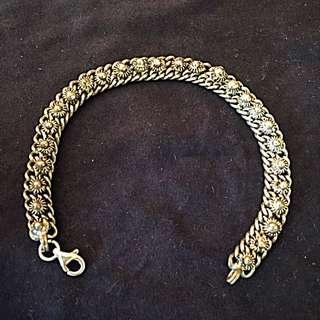 Vintage Bracelet Sterling Silver Straits Chinese