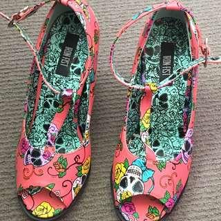 Roses & Skull Shoes