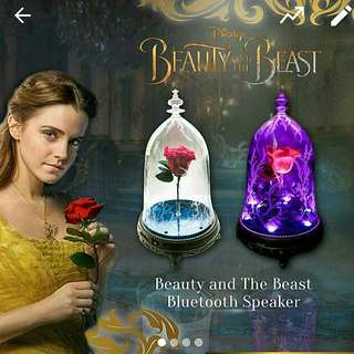 Beauty and the Beast Enchanted Rose Bluetooth Speaker - Ready Stock!