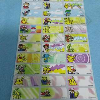 Name Sticker Labels - Pokemon
