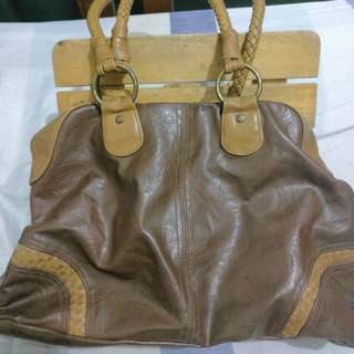 Brown Leather Accessorize Bag