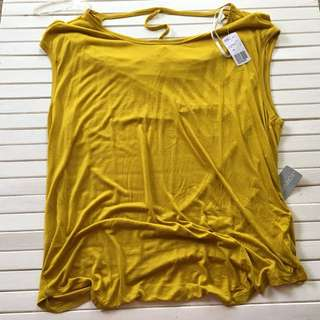 NEW Forever 21 Plus Size Mustard Top Size 2XL