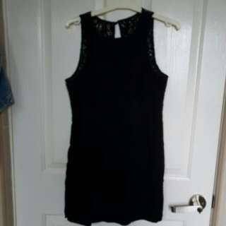 Miss Shop Size 8-10 Black Lace Formal Dress