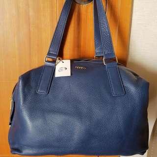 FOSSIL BAG DARK BLUE