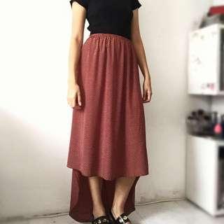Asymmetrical Maxi Skirt Size S/M