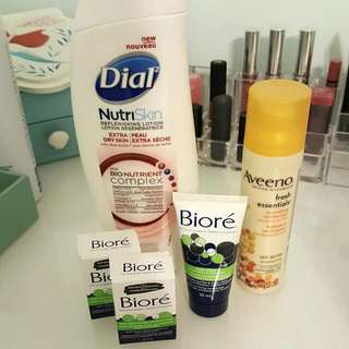 Misc. Biore Cleansers. Moisturizers