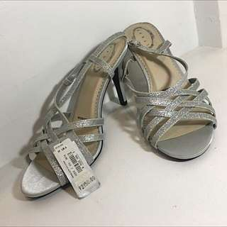 M&S Silver Glittery Shoes