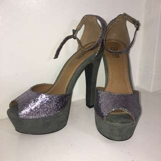Plum Purple Glittery Pumps