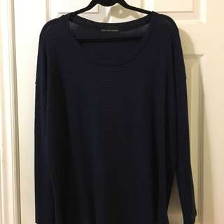 Black And Blue Stripped Sweater