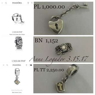 Authentic Pandora Charms & Ring