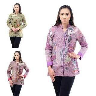 Baju Blousr Wanita Batik Bangau