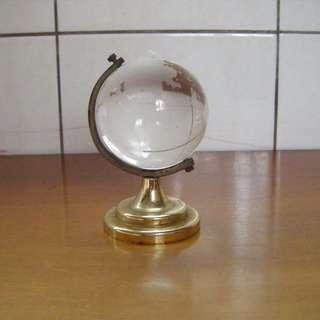 造型地球儀 擺飾 水晶玻璃球
