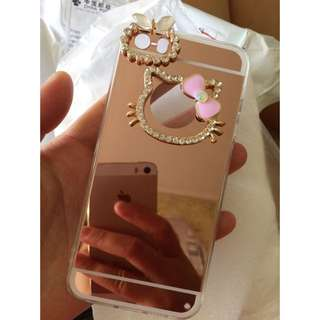 Luxury Hello Kitty Mirror Rhinestone Phone Case