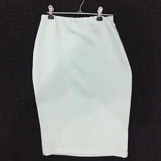 Size 8 Boohoo High Waisted Over Knee Skirt