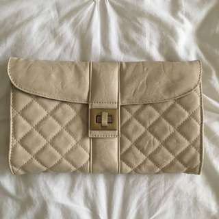 Colette Off-white Clutch Bag