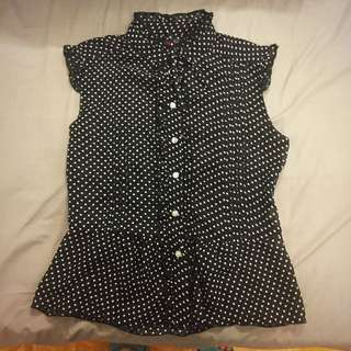Official Playboy Polka Dot Blouse
