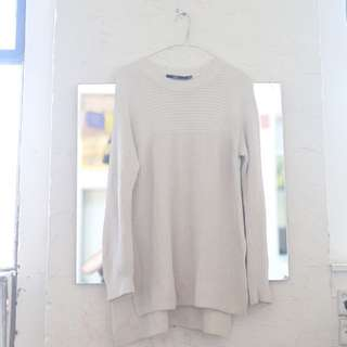 Sportsgirl White Sweater with Slit