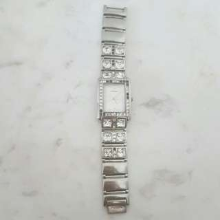 FOSSIL F2 Stainless Steel 50 Meter Water Resistant Vintage CZ Ladies Watch.