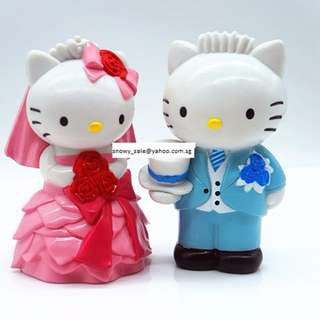 Hello Kitty & Daniel Wedding Couple Figurines / Cake Toppers (2 Pcs A Set)