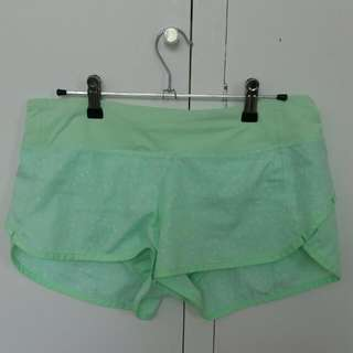 Lululemon Green Running Shorts