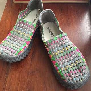 🚚 繽紛編織便鞋