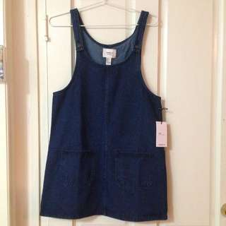 Size S (M) Denim Overall Dress