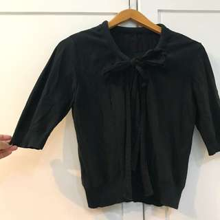 Black Ribbon Cardigan
