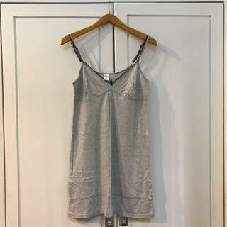 Grey Cotton Sleep Dress