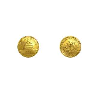 China 1988 Panda Temple of Heaven Gold Coin - 25 Yuan