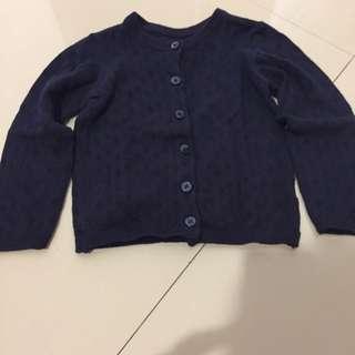 mothercare blue cardigan