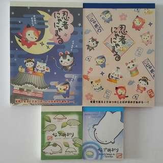 Cute Japanese Notepad 4pcs